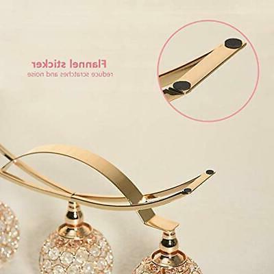 VINCIGANT Gold Crystal 3-Candle Table