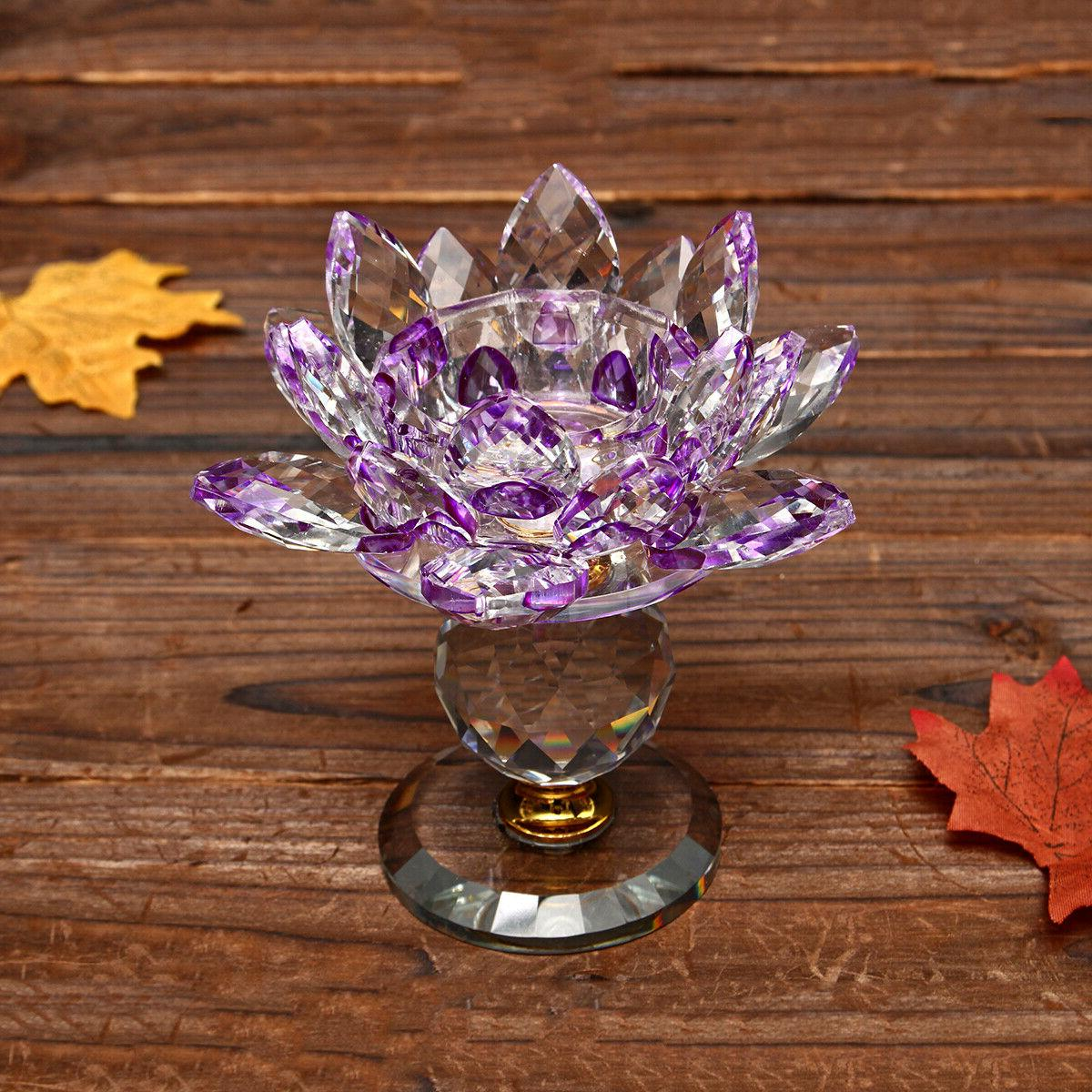 New Crystal Tealight Candle Holder Buddhist
