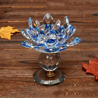 New Glass Tealight Candle Candlestick Buddhist