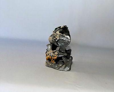 "NEW DETAILED METAL SKULL CANDLE HOLDER 1/4"" TALL"