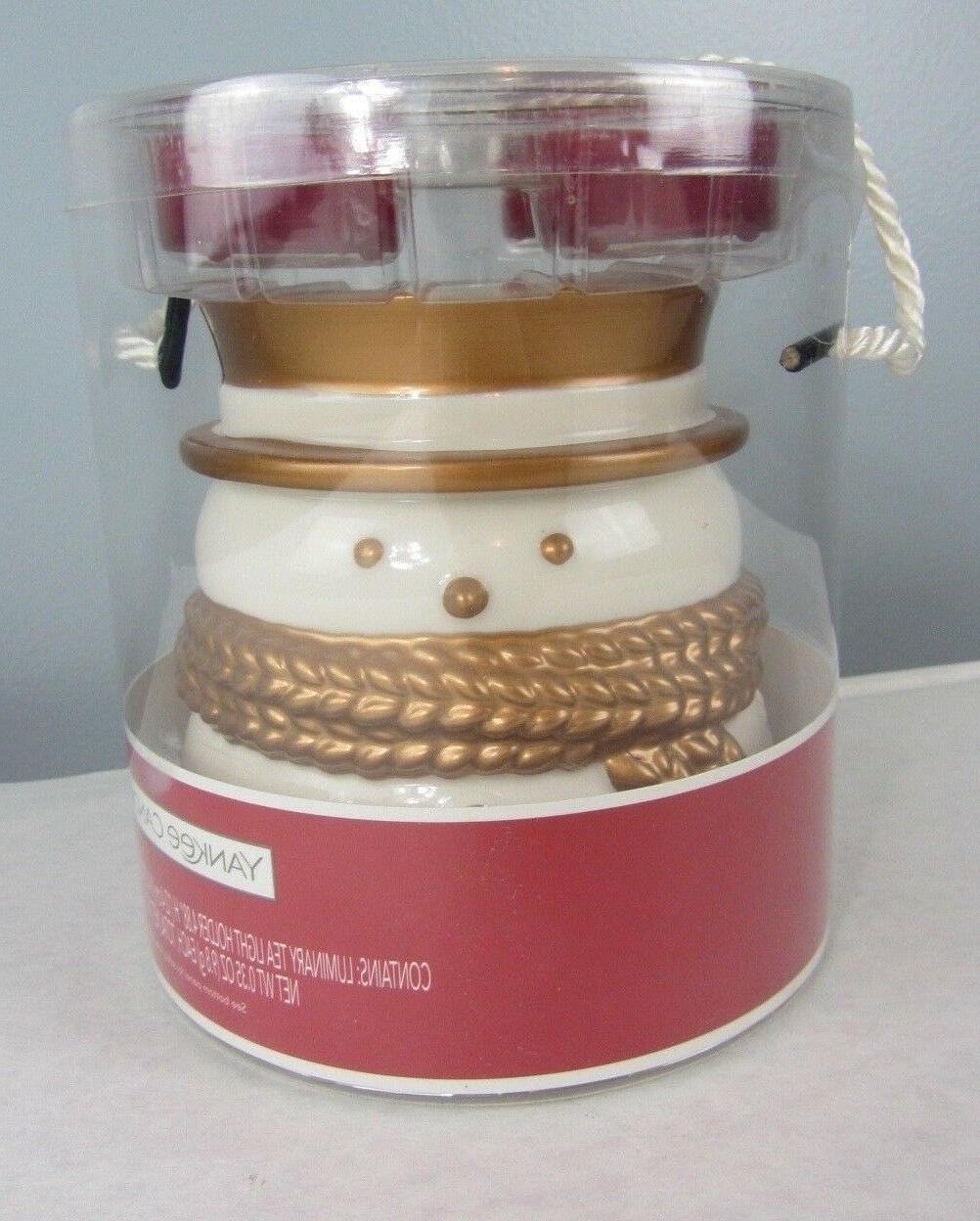 new sparkling cinnamon snowman tea light holder