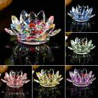Novelty Crystal Glass Lotus Candle Tea Light Holder Lamp Can