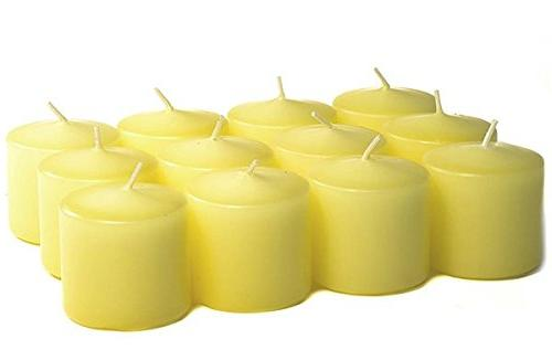 pale yellow unscented votive candles