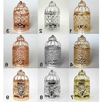 retro bird cage tea light candle holder