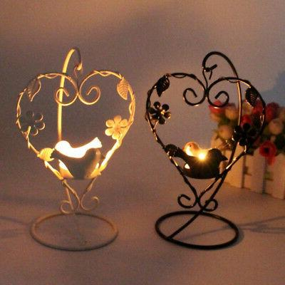 Romantic Candle Holder Cage Love Heart Home Party Wedding Gift