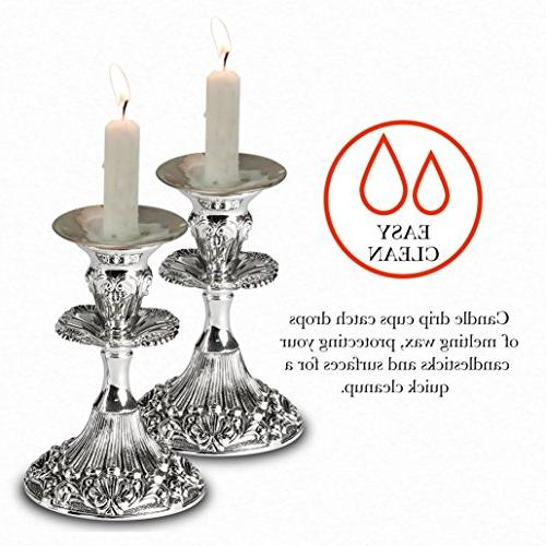 Ner Candle Holder Drip Silver