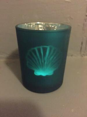 sea candle holder tile blue sea shell
