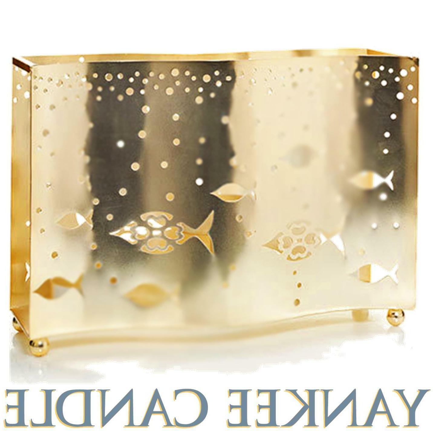 seaside silhouette tea light candle holder metal