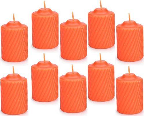 set ten orange pumpkin scented