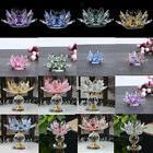 Shiny Crystal Lotus Candle Holder Tealight Candlestick Valen
