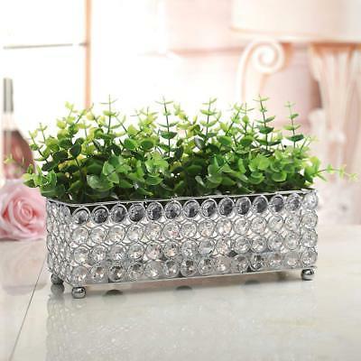 VINCIGANT Silver Crystal Candle Holder,Decorative Candlesticks/Candle for