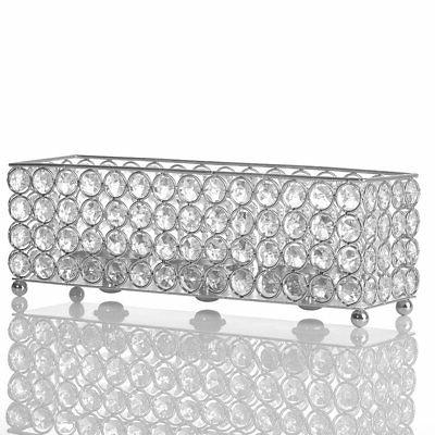 silver crystal candle holder decorative candlesticks candle