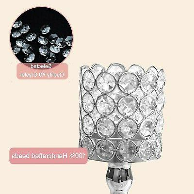 VINCIGANT Silver Ball Crystal Candle of Tab...