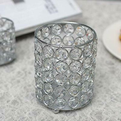 VINCIGANT Silver Cylinder Crystal Tealight