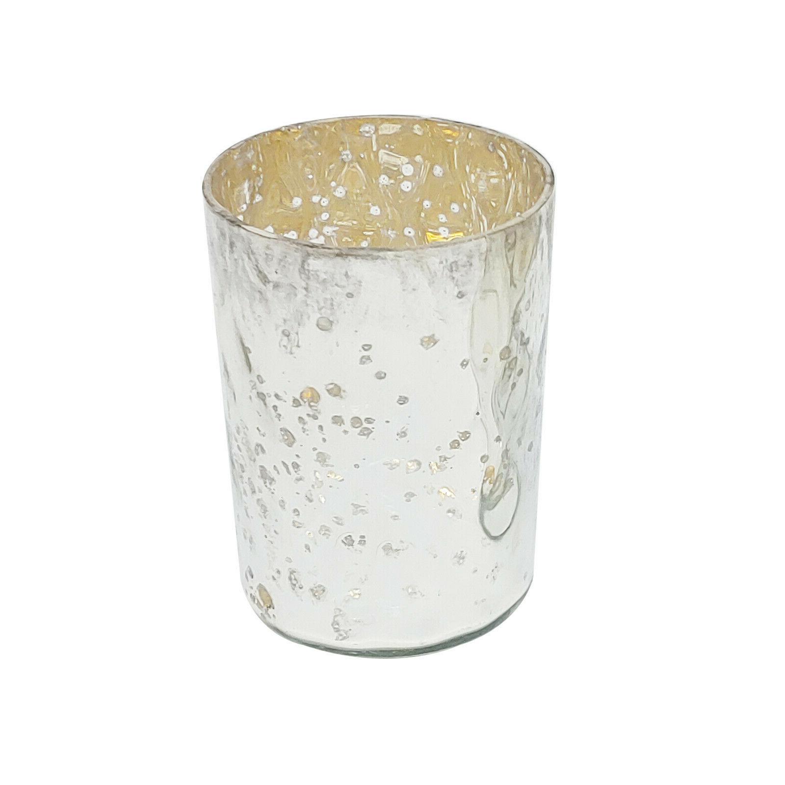 Silver Light Candle Mercury Glass Set Led Table