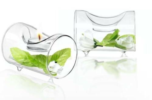 single clear glass tealight candle