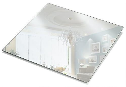 square mirror candle plate thick