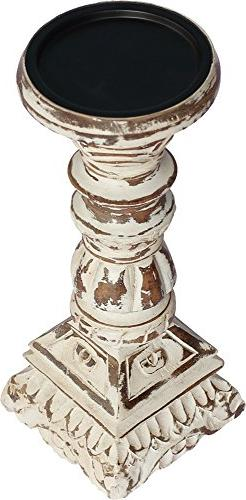 SouvNear 10 Inch Tall Candle Holders Centerpiece - Pillar Ca