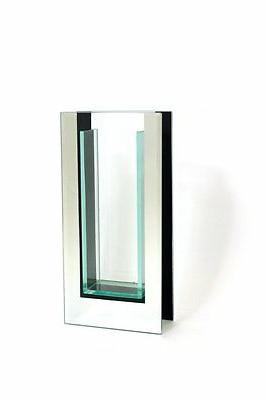 """Royal Imports 10.5"""" Tall Mirror and Glass Vase - 4.5X2X10.5"""