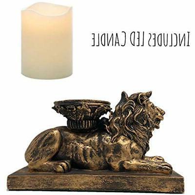 "The Flameless Nook Figurine Holder Antique """