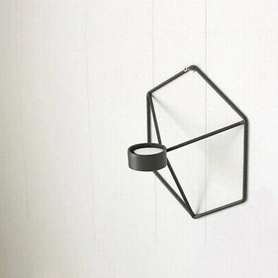 US 3D Geometric Candlestick Iron Wall Candle
