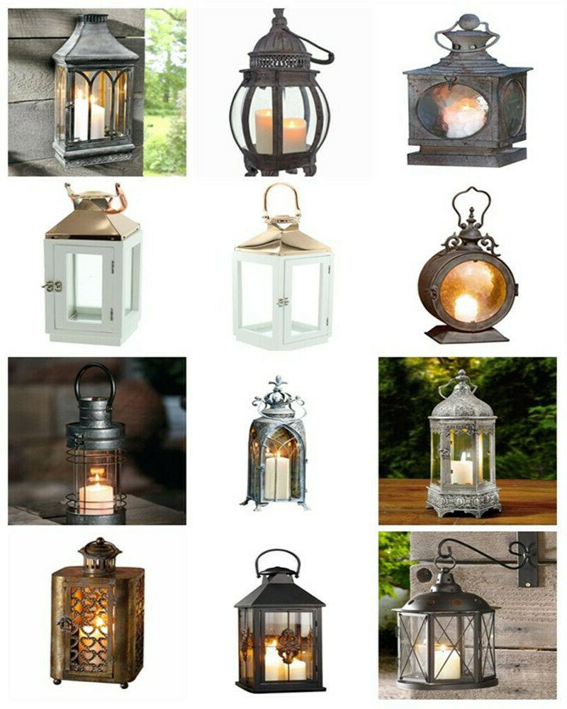 vintage candle holder hanging glass lantern home