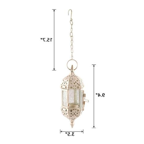 Metal Candle Hanging Glass Home