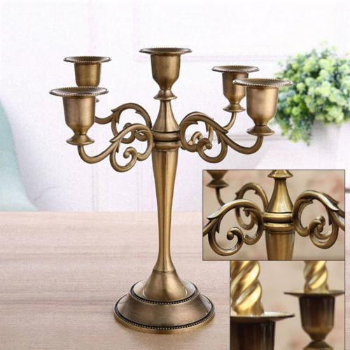 vintage wedding xmas metal crafts candelabra alloy