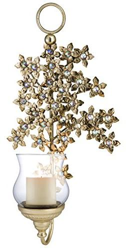 "OK Lighting Virgo Orchid Wall Candleholder , 23.5"""
