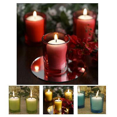 votive candle and holders 12 pk