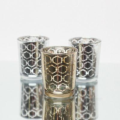 Richland Votive Candle Holder Mercury Hexagonal Set of 72, H