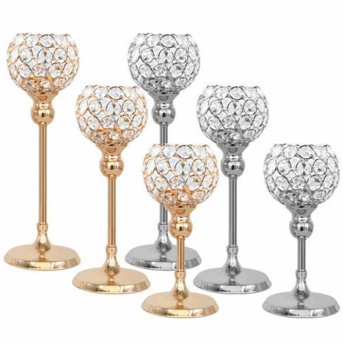 votive crystal candle holder pillar dinner table