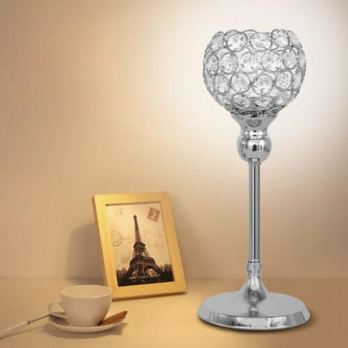 Crystal Votive Candle Holder Candlestick Party Centerpieces Candelabra
