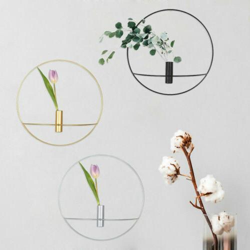 wall mounted candle holder metal 3d geometric