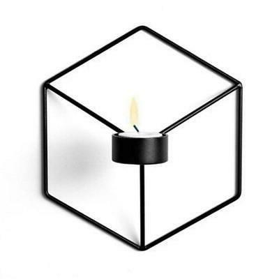 1Pcs Wall Candle 3D Geometric Metal Sconce Nordic