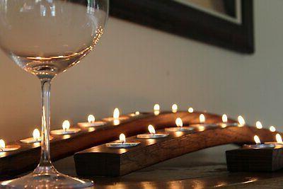Napa Store Barrel Candle Holder Made Wine Barrel