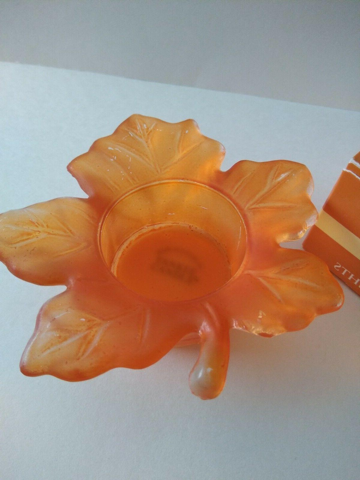 Yankee Tea Light Autumn of with Leaf candle holder