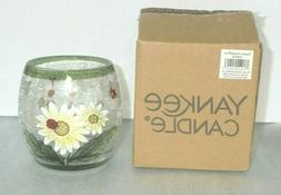 Yankee Candle Lady Bug Daisy Crackle Votive Tea Light Candle