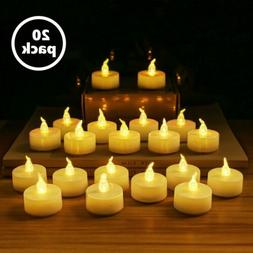 LED Flameless Tea Light Tealight Unscented Votive Fake Candl