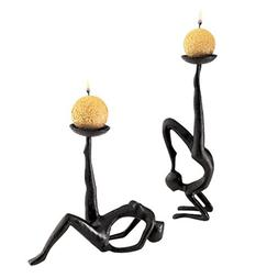 Design Toscano Les Acrobates Sculptural Candleholders