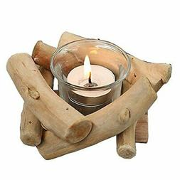 Sziqiqi Lovely Handmade Wooden Tealight Candle Holder for