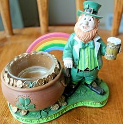 Yankee Candle Luck O the Irish LEPRECHAUN Tea Light Holder ~