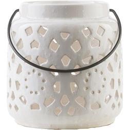 "Diva At Home 6.5"" Madison Links Ivory White Ceramic Small Pi"