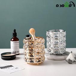 Makeup Brushes <font><b>Holder</b></font> Pot Organiser Gold