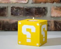 Mario Question Mark Candle Holder - Great Gift for Gamers,Ge