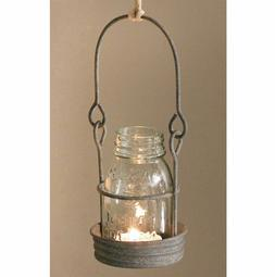 Mason Jar Candle Holder Hang Outdoor Or Indoor 1/4 Pint Outd