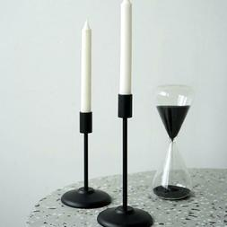 Matte Black Candlestick Holders Candle Holder Retro For Home