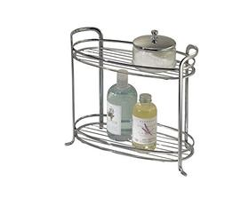mDesign Free Standing Bathroom Storage Shelves for Towels, S