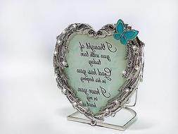BANBERRY DESIGNS Memorial Candle Holder - Heart Shaped Angel
