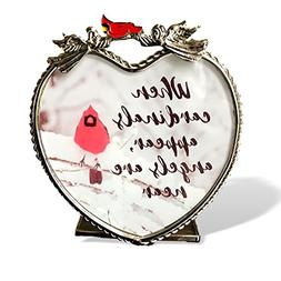 BANBERRY DESIGNS Memorial Candle Holder - When Cardinals App